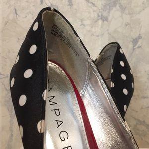 Rampage Shoes - Rampage polka dot heels peep toe heels